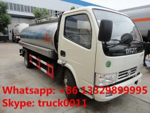 China factory sale best price dongfeng 8,000L milk truck for sale, hot sale stainless steel food grade liquid tank truck on sale