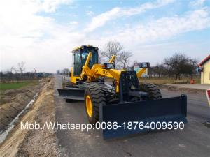 China Xcmg 215hp Desel Fule Motor Graders Gr215 With Ripper And Front Blade on sale