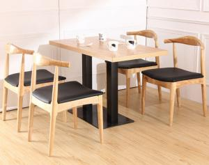 Hans Wegner Replica Horn Design Solid Oak Wood Restaurant