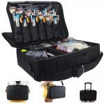 3 Layer Zipper Closure Brush Storage Box With Shoulder Strap