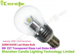 China 115V Clear Glass High Lumen E27 LED Bulb 9w For Fashion Show / Museum Jewelry Counter on sale