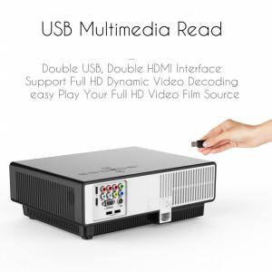 China simplebeamer W330 Android multimedia LCD projector,2800 lumens real home theater Projector with wireless exceed  3D proj on sale