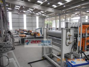 China 350 - 650kg/h Plastic Roof Tile Making Machine For PVC Roof Sheet on sale