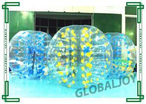 China Blue Inflatable Soccer Bubble Ball TPU / PVC Body Knocker Ball on sale