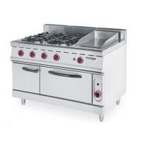 China 4 Burner Gas Electric Oven , Gas Cooker Electric Oven CE Certification on sale
