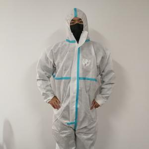 China Sms Pp Microporous Disposable Protective Coveralls Antistatic Industrial Medical Use on sale