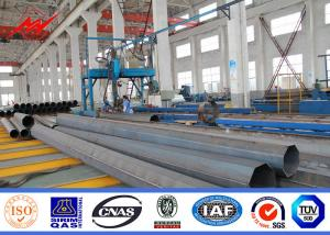 China 25ft -100ft Low Valtage Philippines Steel Transmission Pole With Angle Arms on sale