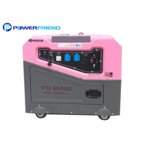 China 5kw Small Portable Generators With 4 Wheels For Home Standby Power 50hz on sale