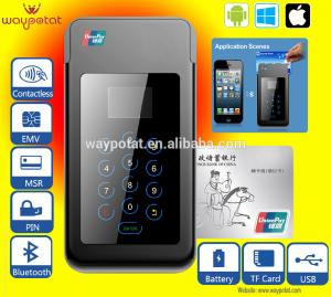 China Bluetooth Mobile Phone POS with Magnetic Strip and Smart Card Reader on sale