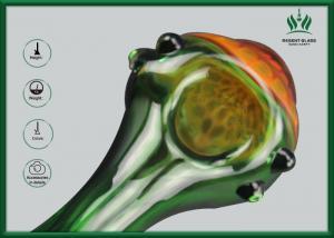 China Premium BorosilicateGlass Smoking Tubes Orange Mushroom Shape GP-011 on sale