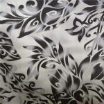 Dyed Polycotton Fabric 90% Polyester 10% Cotton 100gsm Black Flower Pattern