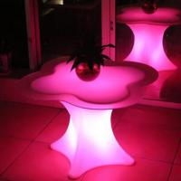 China Single Pedestal Illuminated Bar Furniture / Rechargeable LED Bar Table on sale