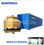 Water Cooling Containerized Block Ice Machine Indirect Cooling Edible Grade
