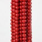 gotas flojas redondas 15.5&quot de la piedra preciosa natural del coral rojo de 7m m;