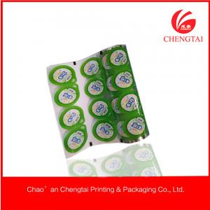 China Juice / Jelly / Yoghurt Packaging Cup Sealing Film of Food Grade PP Plastic on sale