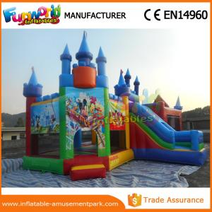 China Lovely Mickey Mouse Inflatable Bouncer Slide For Park CE Certifications on sale