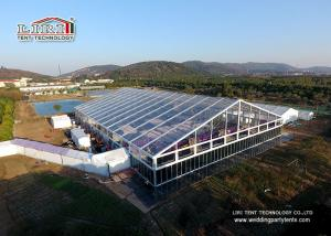 China Aluminium Frame Outdoor Tents For Parties / Wedding With Transparent PVC Roof on sale