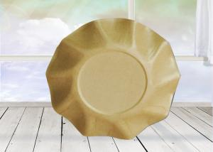 China Food Grade Eco Friendly Disposable Tableware Round Shape For Restaurant / Bar on sale