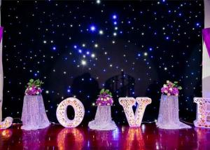 China DMX Programable RGB LED Curtain Lights For Weddings Backdrop Twinkle Starlit Type on sale