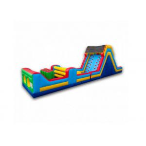 China Long Inflatable Indoor Playground Obstacle Course , Sports Games Blow Up Playhouse on sale