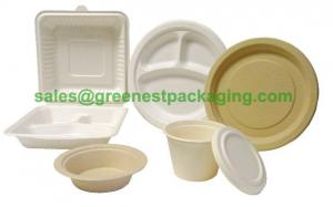 Quality Disposable Sugarcane Bagasse Tableware for sale