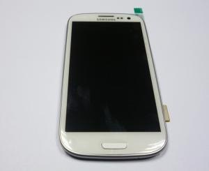 China 4.8 Inches Samsung LCD Touch Screen with frame For S3 i9300 LCD With Digitizer white on sale