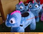 Peluches motorizados felpa de las animaciones de la bici de Animales Montables Electricos