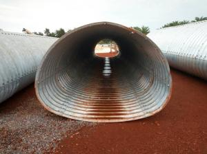 China 3.7*2.44m corrugated metal culvert pipe pipe-arch section on sale