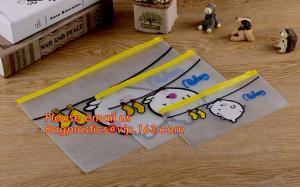 China wholesaler PP Plastic poly file folder A4 zipper lock bag with custom printing on sale