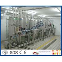 SUS304 Pure Milk Production Line / 2000L/H Milk Processing Plant With PLC Control