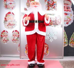China Electric Christmas old man music Santa Claus 160cm Outdoor Christmas Decoration on sale