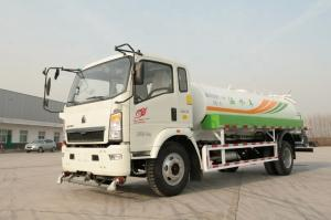 China SINOTRUK HOWO 4×2 Light 5000L Water Tanker Truck With Diesel / Water Spray Vehicle on sale
