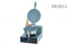 China Food Preparation Equipments Electric Ice Cream Cone Maker Machine Single / Double Head on sale
