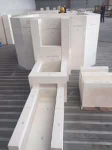 Quality Fefractory blocks/AZS fused cast block for glass fusing kiln for sale