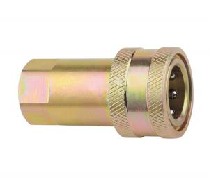 China Reusable Brass Hydraulic Pipe Fittings , Hydraulic Quick Coupler Close Type ISO7241-A G-NPT on sale
