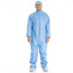 China Disposable Non woven Protective Safety Coverall / Work Suit With Collar on sale