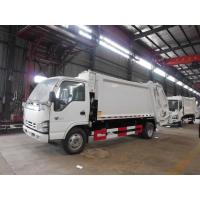120hp Back Loader Garbage Truck , 5m3 Isuzu 600P 5cbm Refuse Compactor Waste Truck