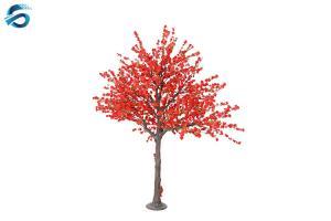 China 2 Meter Artificial Peach Blossom Tree Fiberglass Column For Wedding on sale