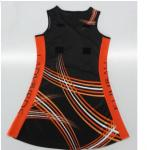 OEM / ODM Black Netball Dress Full Digital Sublimation Transfer Print No Size Limit