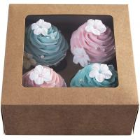 China Valentines Day Cookie Gift Bakery Kraft Paper Cupcake Boxes on sale