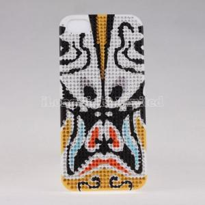 China Diamond Plastic Case For iPhone 5 with Beijing Opera Facial Masks  desgin on sale