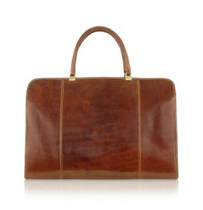 China Vintage Cowhide Womens Leather Handbags , Leather Briefcase Bag For Business Meeting on sale