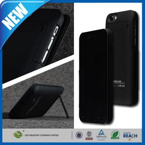 China Black 3500mAh Rechargeable External Backup Charger Iphone 6 Battery Case on sale
