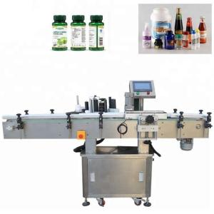 China Vertical Stainless Steel Vial Labeling Machine , Wood Packaging Automatic Labeling Machine on sale