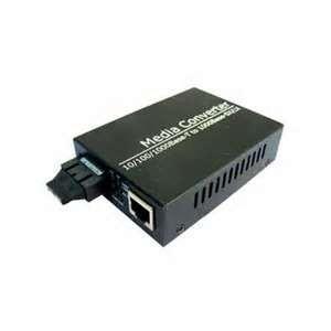 China Black 1310nm FP SC / FC / ST Single - mode Dual - fiber Optical Fiber Media Converter on sale
