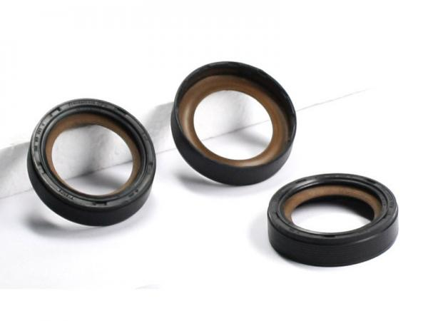 NBR / VITON / ACM Rubber Oil Seal With Moly Filled PTFE Oil