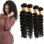 Full Wet Deep Wave Virgin Hair Bundles No Synthetic Hair Full Lace Wigs