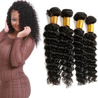 China Full Wet Deep Wave Virgin Hair Bundles No Synthetic Hair Full Lace Wigs on sale