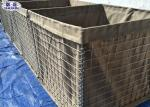 Geotextile Lined Military Hesco Barriers , Secuirty Sand Bastion Wall