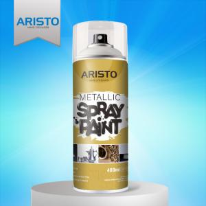 China Acrylic Metallic Spray Paint Gold / Silver / Copper / Chrome Colors Abrasion Resistant on sale
